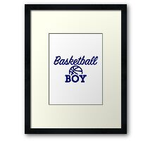 Basketball boy Framed Print