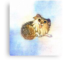 Watercolor Australian Shepherd Dog Canvas Print