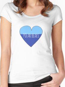 Polar Bear Love Women's Fitted Scoop T-Shirt