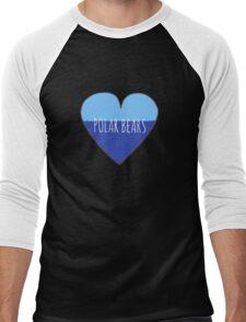 Polar Bear Love Men's Baseball ¾ T-Shirt