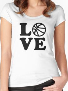 Basketball love Women's Fitted Scoop T-Shirt