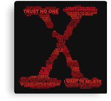 Wisdom of X-Files (Red) Canvas Print