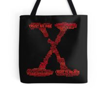 Wisdom of X-Files (Red) Tote Bag
