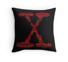 Wisdom of X-Files (Red) Throw Pillow