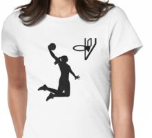 Basketball girl woman Womens Fitted T-Shirt