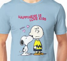 Charlie Snoopy Happines Love Kiss Unisex T-Shirt
