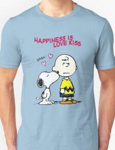 Charlie Snoopy Happines Love Kiss T-Shirt