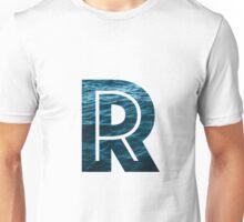 """The Letter """"R"""" Ocean Unisex T-Shirt"""