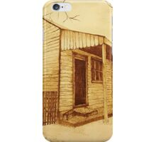 Old Berrima Cottage - Pyrography iPhone Case/Skin