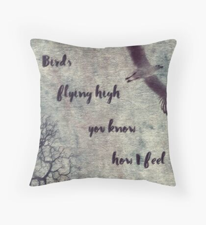 Birds Flying High You Know How I Feel Throw Pillow
