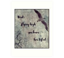 Birds Flying High You Know How I Feel Art Print