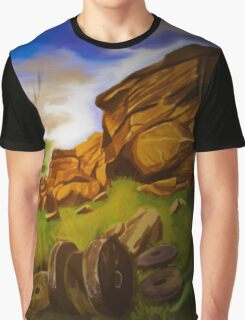 Digital Painting- Peak District Graphic T-Shirt