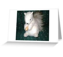 Exeter- White Squirrel - made for me as a gift Greeting Card