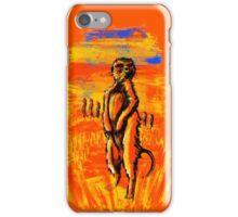 Get on alert Meerkat iPhone Case/Skin