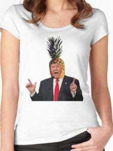 Donald Trump a.k.a. The Pineapple King Women's Fitted Scoop T-Shirt