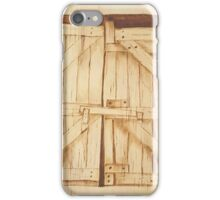 The Old Barn Doors - Original Pyrography iPhone Case/Skin