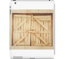 The Old Barn Doors - Original Pyrography iPad Case/Skin