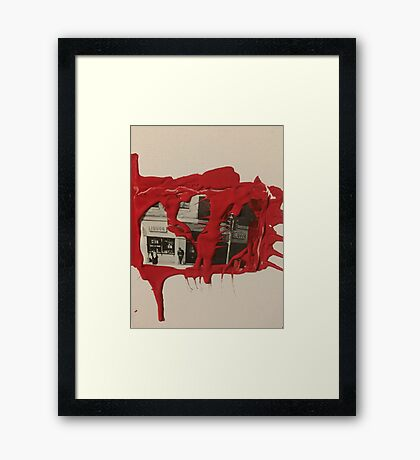 Blood spilled Framed Print