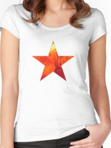 Flaming Star Women's Fitted Scoop T-Shirt