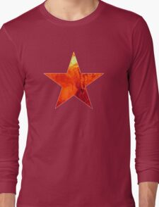 Flaming Star Long Sleeve T-Shirt