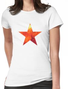 Flaming Star Womens Fitted T-Shirt