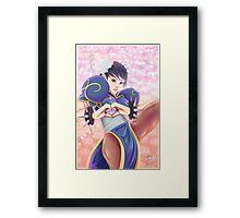 Lovely Chun Li Framed Print