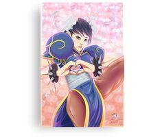 Lovely Chun Li Canvas Print