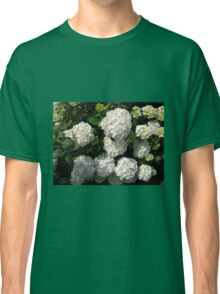 Snowballs in Summer - Beautiful White Hydrangea Blossoms Classic T-Shirt