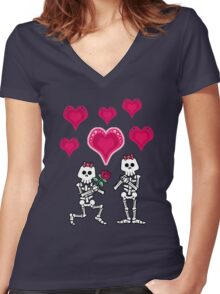Boniette and Boniette Women's Fitted V-Neck T-Shirt