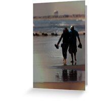 Walking In Love Greeting Card
