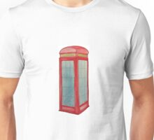 London Phone Box Watercolour  Unisex T-Shirt