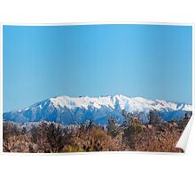 Snow covered peaks - Santa Ana mountains winter 2016 Poster