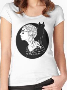 The Watcher and the Dreamer Women's Fitted Scoop T-Shirt