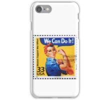 Rosie the riveter vintage stamp. iPhone Case/Skin