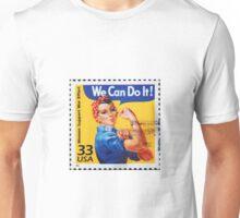 Rosie the riveter vintage stamp. Unisex T-Shirt
