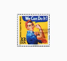 Rosie the riveter vintage stamp. Unisex T-Shirt