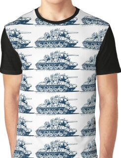T-34 Russian Caravan Graphic T-Shirt