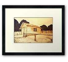 The Old Berrima Garage - Original Pyrography Framed Print