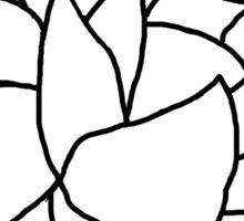 Lotus Flower- Black and White Sticker