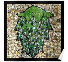 The Hops made of Beer Caps - Bottle Cap Mosaic Poster