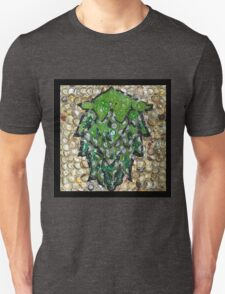 The Hops made of Beer Caps - Bottle Cap Mosaic T-Shirt