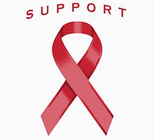 Red Awareness Ribbon of Support Unisex T-Shirt