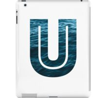 "The Letter ""U"" Ocean iPad Case/Skin"