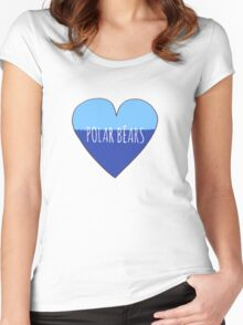 Stranded Polar Bear Love Women's Fitted Scoop T-Shirt