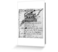 Science Fiction. Greeting Card