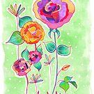 Floral X by Carolina  Coto