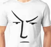 Minimalist Line Spock With Raised Eyebrow - Star Trek Unisex T-Shirt