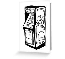 oldschool arcade Greeting Card