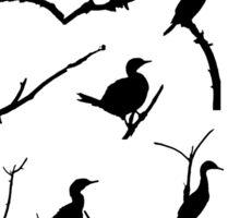 Nesting Cormorants Sticker