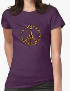 Peace Pussycat  Womens Fitted T-Shirt